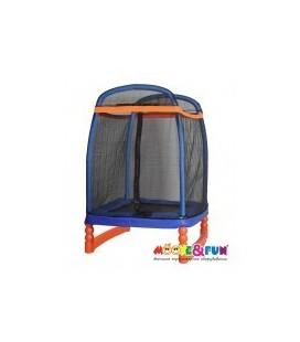 Батут детский с защитной сеткой 122х122м Moove&Fun