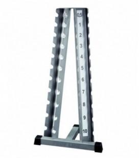 Стойка для гантелей хромированных ( 0.5-10 кг )