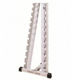 Стойка для гантелей хромированных( 0.5-10 кг )