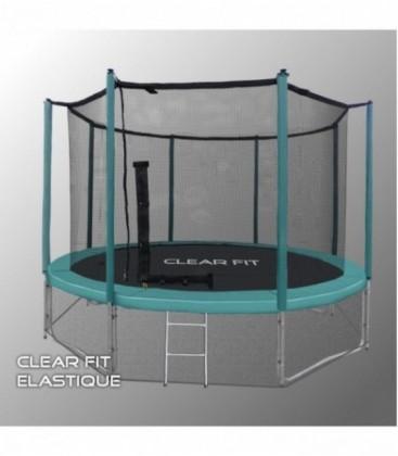 Батут для дачи с сеткой Clear Fit Elastique 14ft