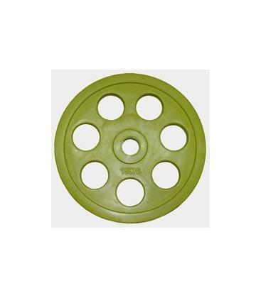 Олимпийский диск евро-классик с хватом Ромашка, 15 кг